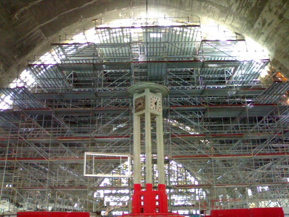 Echafaudage Halles du Boulingrin - Reims