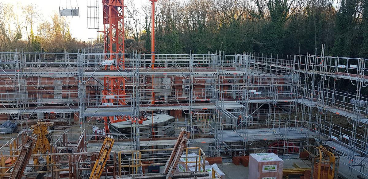 Échafaudage construction bâtiment Nanteuil (77)
