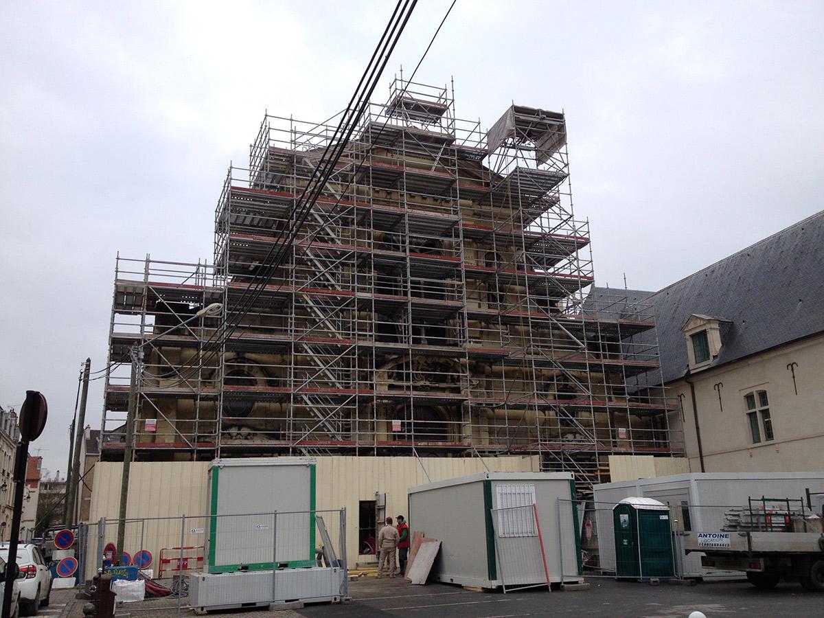 Échafaudage Eglise à Reims