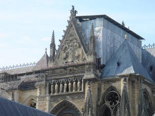 Echafaudage parapluie Cathédrale de Reims